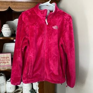 Women's Pink Northface zip up size Large